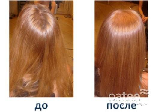 Ламинирование волос до и после, фото 2.