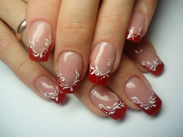 Фото ногти дизайн красный